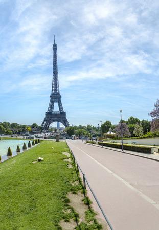 The Eiffel Tower seen from Trocadero, Paris