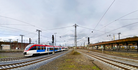 Panorama of Dusseldorf train station. Stock Photo
