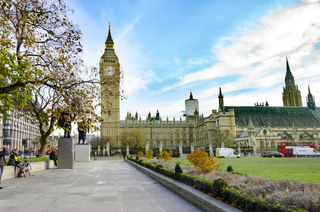 Big Ben and the Palace of Westminster, landmark of London, UK 免版税图像