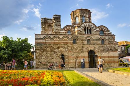 NESEBAR, BULGARIA - circa JUL, 2016: The Church of Christ Pantocrator is a medieval Eastern Orthodox church in the Bulgarian town of Nesebar on the Black Sea coast. Part of the Ancient Nesebar UNESCO World Heritage Site