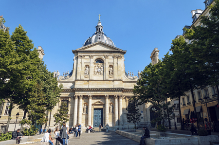 Paris, France - May 08, 2017: The University of Paris known as the Sorbonne