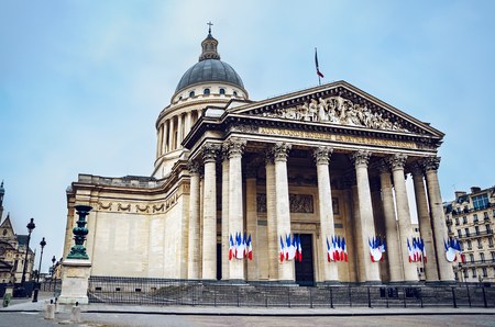The Pantheon is a neo-Classical church in the Latin Quarter of Paris.