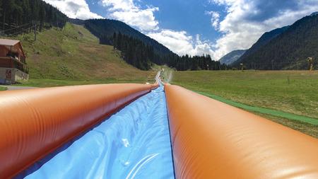 Longest Inflatable water slide
