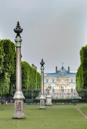 Jardin du Luxembourg in spring in Paris, France