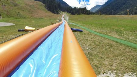 Longest Inflatable Summer aqua slide