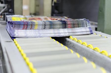 Print shop press printing magazine finishing line Banque d'images