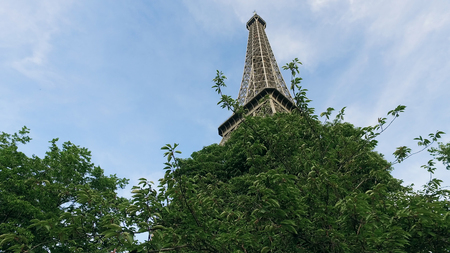 France Paris Cityscape And Eiffel Tower spring
