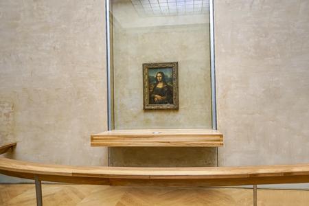 Paris, France - circa May, 2017: Leonardo DaVincis Mona Lisa at the Louvre Museum