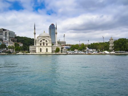 Ortakoy mosque on European side,Istanbul, Turkey