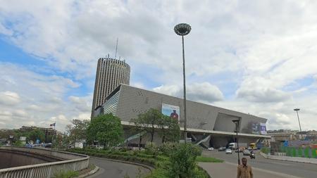 Paris, France - May 11, 2017: Building of Le Palais des Congres de Paris in spring day Editöryel