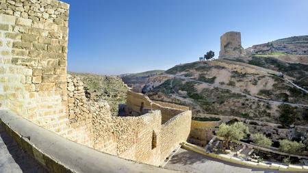 View on Greek Orthodox monastery Great Lavra (monastery) of St. Sabbas the Sanctified (Mar Saba) in Judean desert. Palestine, cca. 2015 Фото со стока - 120638831