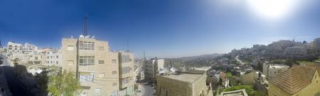 View of Bethlehem the birthplace of Jesus Christ, Palestine, Israel Фото со стока