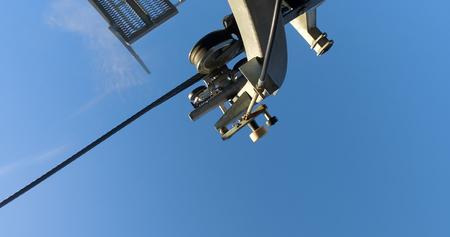 Drive system of Overhead Gondola Cable Car Фото со стока - 120638344