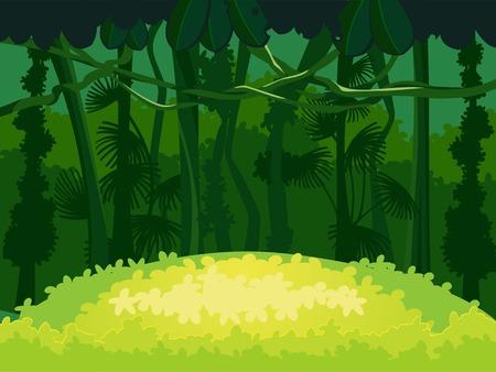 Forest Glade  Beautiful Landscape Background  Illusztráció