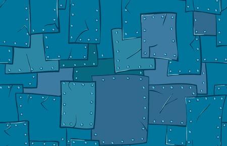 Metalen structuur. Vector cartoon achtergrond. Stock Illustratie
