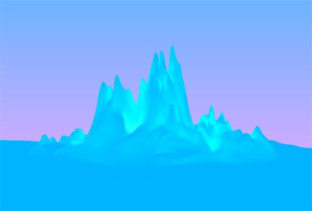 floe: Winter blue mountains Vector background.