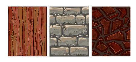flagstone: Set of seamless texture of stones, wood, ground