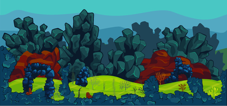 underwater scene: Vector illustration of underwater scene.