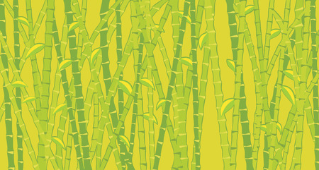bamboo therapy: light green background with bamboo Illustration