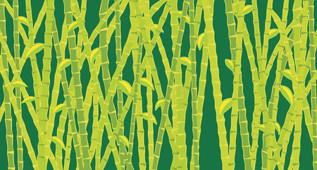 bamboo therapy: dark green background with bamboo Illustration