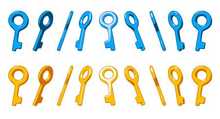 cartoon frame: Different rotation key  Animated frame.