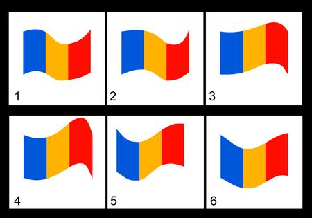 rumanian: Animation of the Rumanian flag  Vector frame.