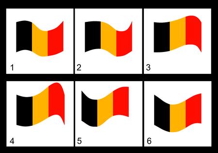 anthem: Animation of the Belgian flag  Vector frame. Illustration