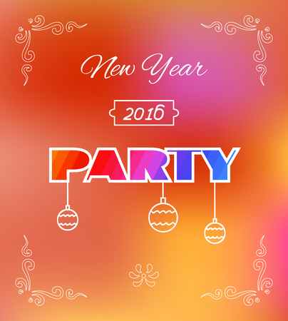 new years eve party: Flyer, Banner or Poster for 2016 New Years Eve Party celebration.