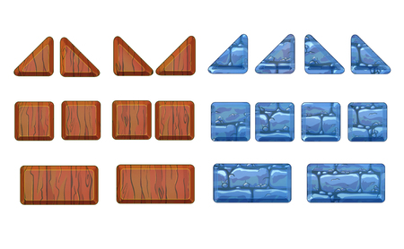flagstone: A set of stone and wood panels for the game. Level elements.