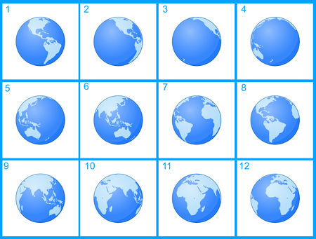 Animatie Globe roteren om een as