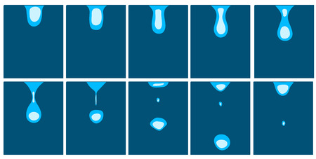 animation of falling water droplets