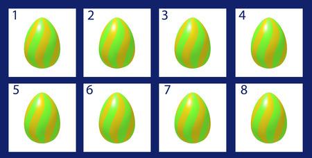 animation: Animation rotation Easter egg. Cartoon frames