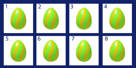 computer animation: Animation rotation Easter egg. Cartoon frames