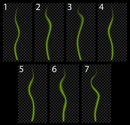 green smoke: Animation of green smoke. Magic fly effect.