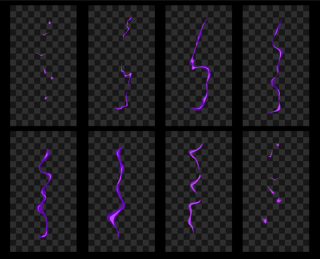 discharge: Animation of lightning. Electric discharge current and magical effect.