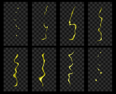 storyboard: Animation of lightning. Electric discharge current and magical effect.