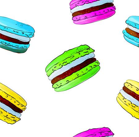 macaron: Hand drawn pattern of macaron Illustration