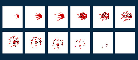wound: Spraytshit bloody splash. Wound. Animation gaming strike