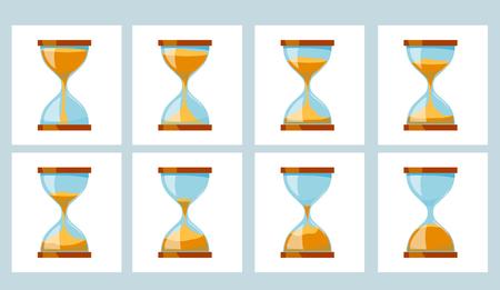 Animation Sand Glass Clock. Hourglass