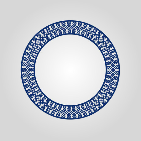 cameo: Abstract circle frame with swirls, vector ornament, vintage frame. May be used for lasercutting. Laser cut vector frame. Lazercut frame.