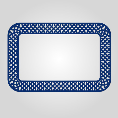 paper cutting: Abstract frame with swirls, vector ornament, vintage frame. May be used for lasercutting. Laser cut vector frame. Lazercut frame. Photo frame with lace corners for paper cutting. Illustration
