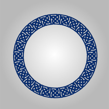lasercutting: Abstract circle frame with swirls, vector ornament, vintage frame. May be used for lasercutting. Laser cut vector frame. Lazercut frame.