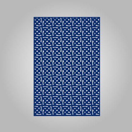 panel: Abstract cutout panel for laser cutting, die cutting or stencil. Vector filigree pattern for wedding invitation card.