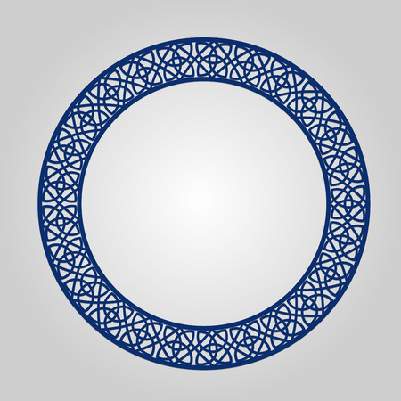 lasercutting: Abstract circle frame with swirls, ornament, vintage frame.