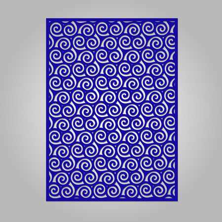 lasercutting: Abstract cutout panel for laser cutting, die cutting or stencil. Vector filigree pattern for wedding invitation card.