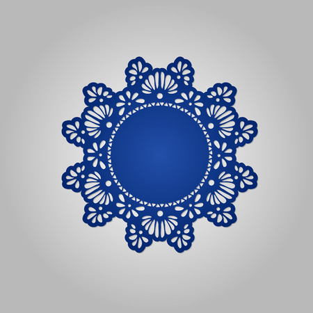 Doily. Mandala. Round Ornament Pattern. Geometric circle element made in vector. Circular pattern in arabesque style. My be used for laser cutting or die cutting machines  イラスト・ベクター素材