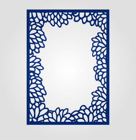 laser cutting: Abstract cutout panel for laser cutting, die cutting or stencil. Vector filigree pattern for wedding invitation card.