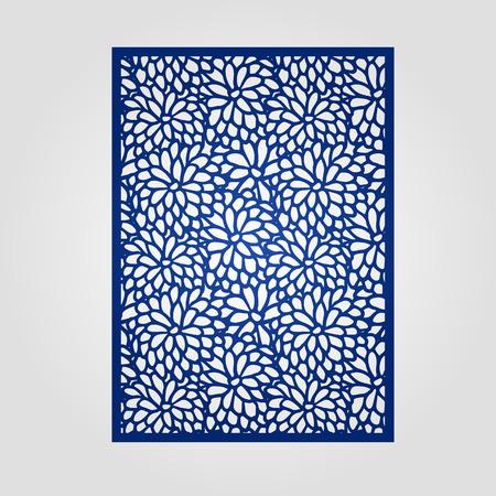 corte laser: el panel Resumen de recorte para el corte láser, corte por troquel o plantilla. diseño de filigranas vector para la tarjeta de invitación de la boda. Vectores
