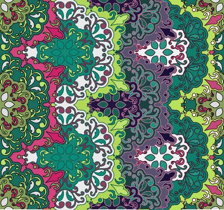 Seamless pattern. elementi decorativi d'epoca. disegnato a mano di fondo. Islam, arabi, indiani, motivi ottomani. Perfetto per la stampa su tessuto o carta