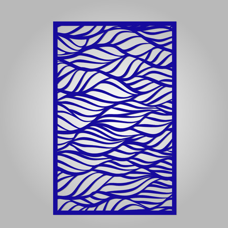 Abstract cutout panel for laser cutting.